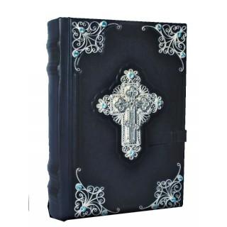 Библия с комментариями (филигрань, топазы)