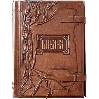 Библия с клапаном с тонированным обрезом