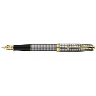Перьевая ручка Parker Sonnet F534 Sterling Silver Cisele GT